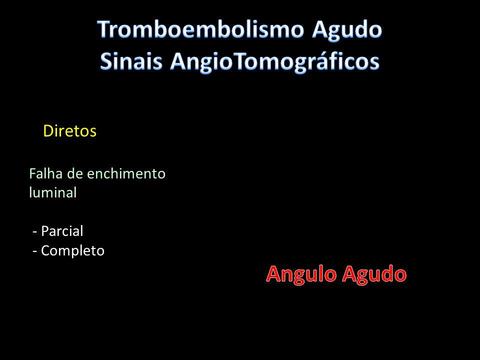 Angiotomografia HAP PrimáriaHAP Secundária Trombo casos graves – CentraisTrombo e bandas frequentes Centrais e periféricos