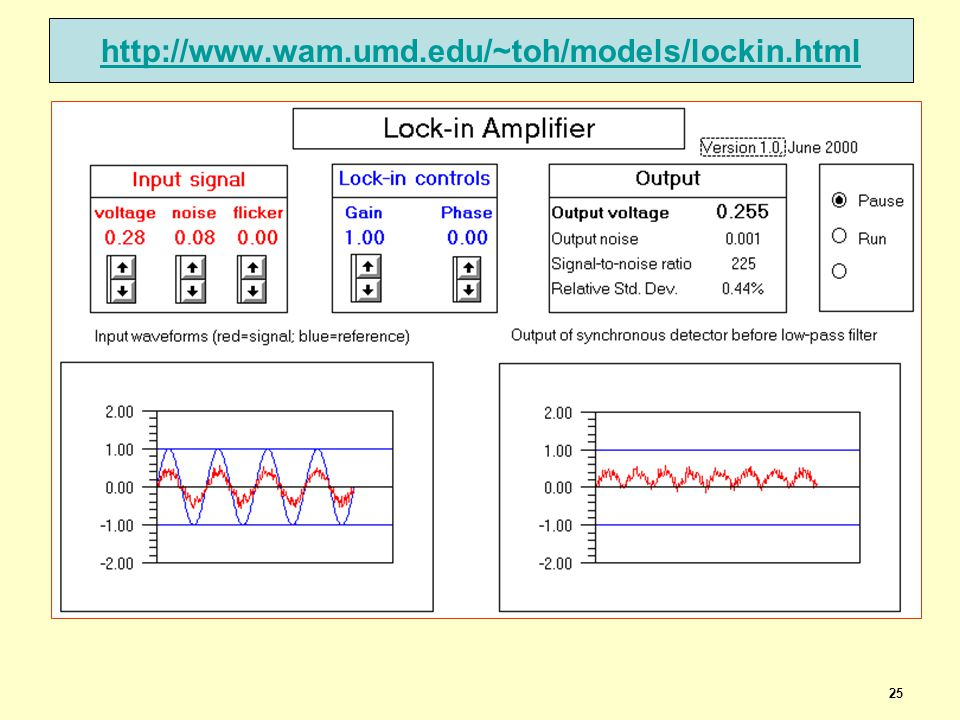 25 http://www.wam.umd.edu/~toh/models/lockin.html