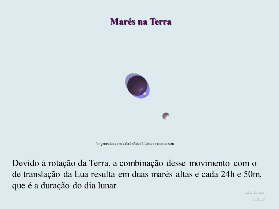 A atração gravitacional sentida em cada ponto da Terra, devido à Lua, depende da distância do ponto à Lua. No lado da Terra mais próximo à Lua, a atra