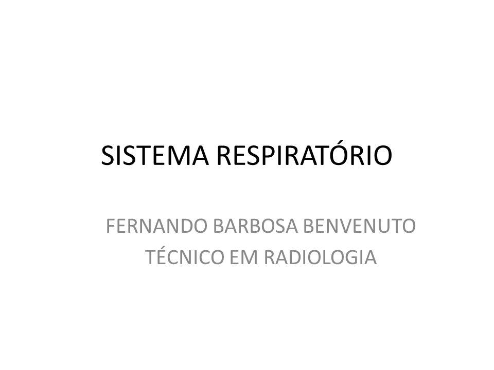 SISTEMA RESPIRATÓRIO FERNANDO BARBOSA BENVENUTO TÉCNICO EM RADIOLOGIA