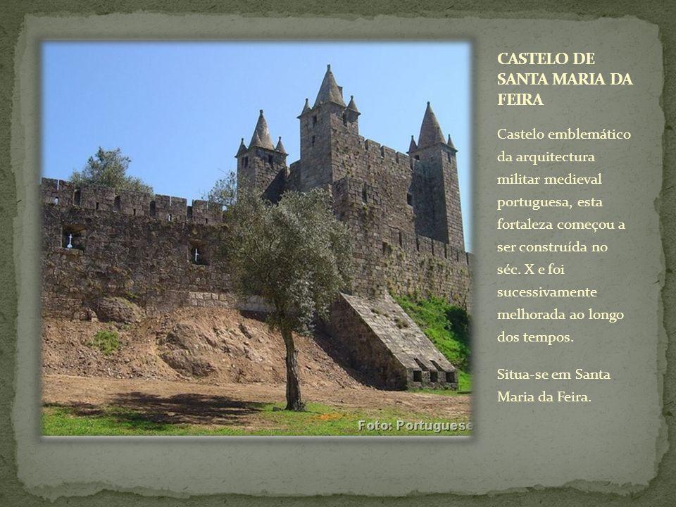 Castelo emblemático da arquitectura militar medieval portuguesa, esta fortaleza começou a ser construída no séc. X e foi sucessivamente melhorada ao l