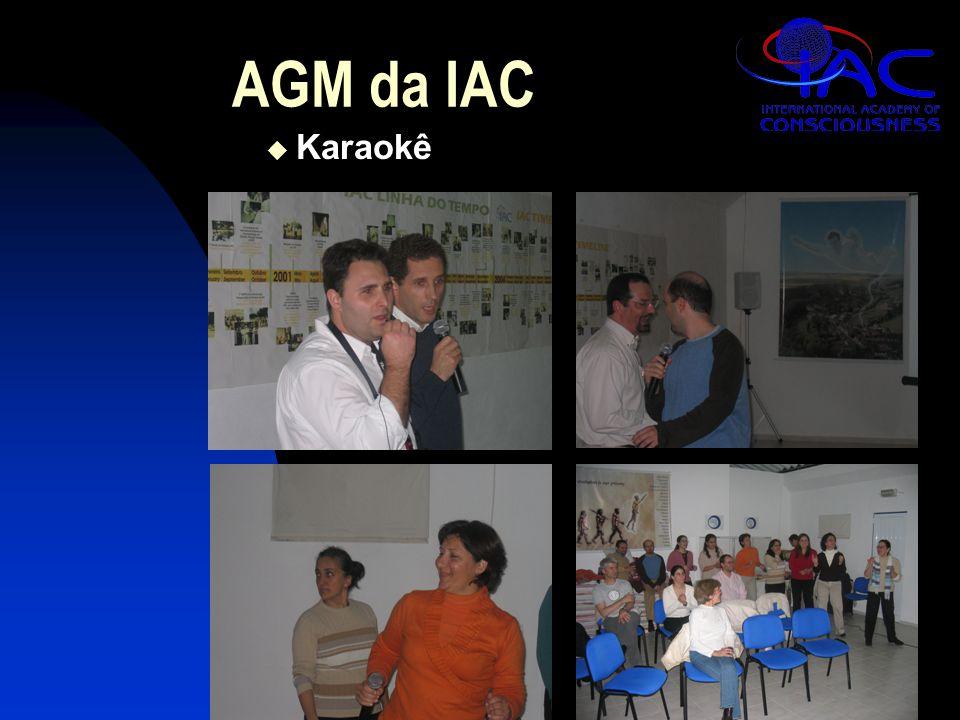 AGM da IAC  Karaokê