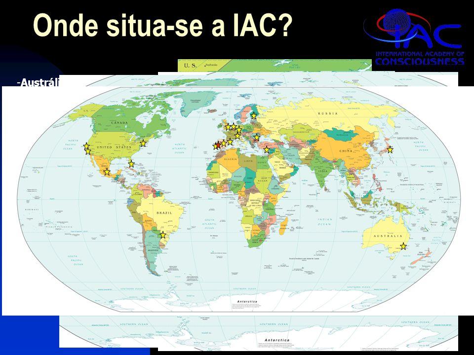 -Austrália (Sydney) -Japão (Tóquio) -Chipre (Nicósia) -Romênia (Bucareste) -Finlândia (Helsinki) -Itália (Bergamo) -Alemanha (Frankfurt) -Holanda (Rotterdam) -Reino Unido (Londres) Espanha -Barcelona e Madri -Portugal -Lisboa e o IAC Campus -Brasil (Foz do Iguaçu) -EUA -Nova Iorque e Miami -Los Angeles e São Francisco -México Onde situa-se a IAC