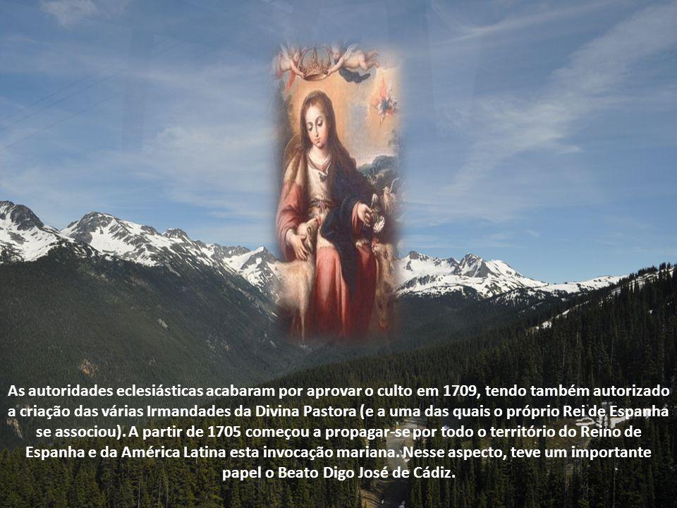 Posteriormente, o artista Francisco Ruiz Gijón esculpiu a primeira imagem em tamanho natural da Divina Pastora. Essa imagem foi levada na sua primeira