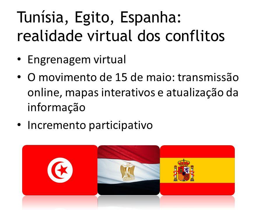 Engrenagem virtual O movimento de 15 de maio: transmissão online, mapas interativos e atualização da informação Incremento participativo Tunísia, Egit