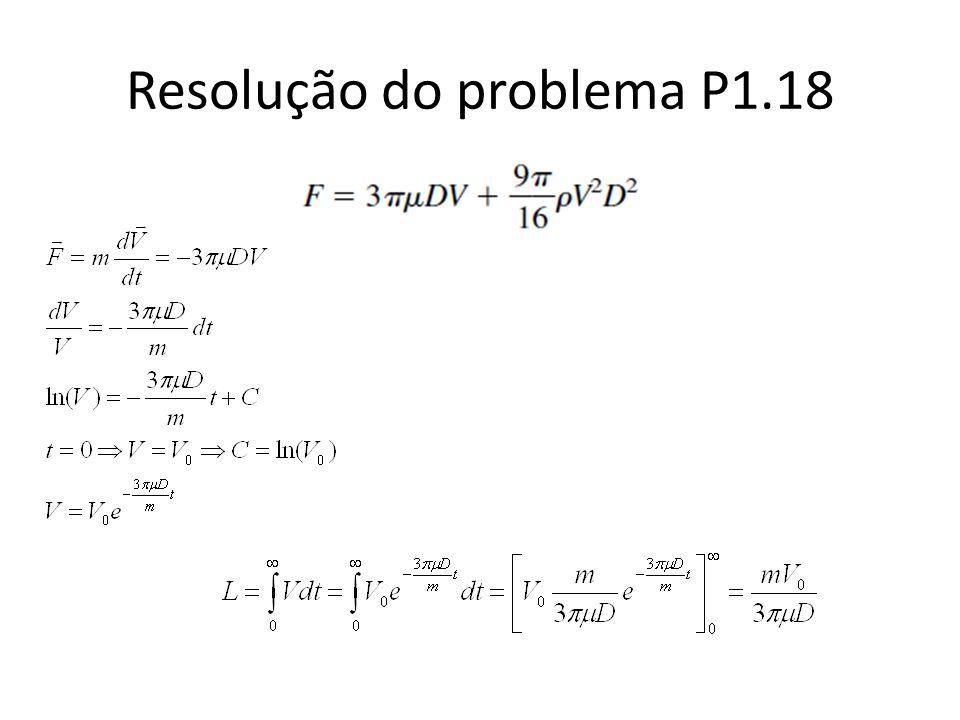 Resolução do problema P1.18