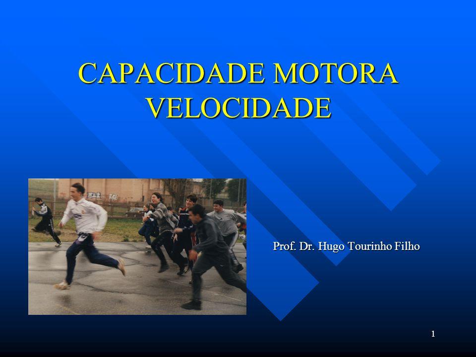 1 CAPACIDADE MOTORA VELOCIDADE Prof. Dr. Hugo Tourinho Filho