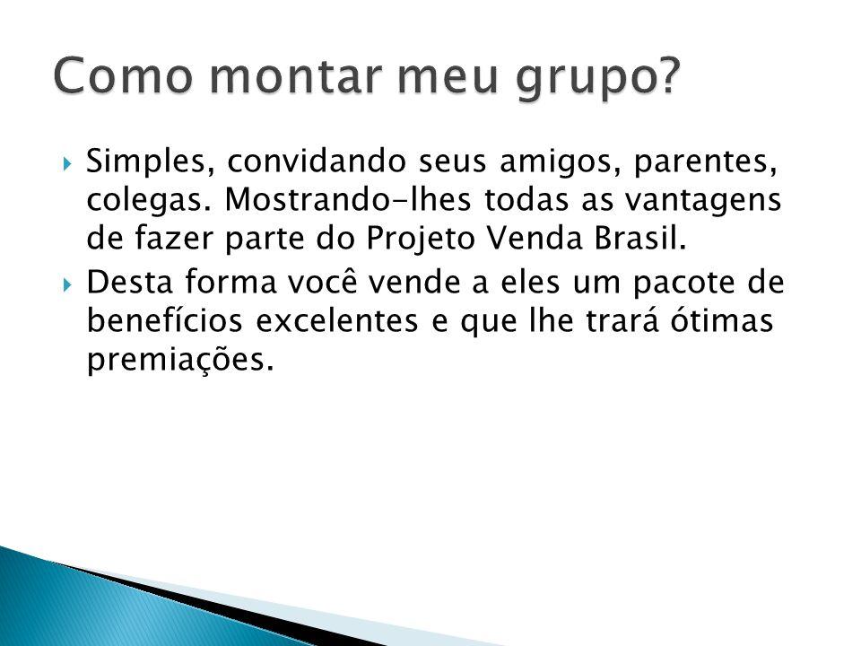  Simples, convidando seus amigos, parentes, colegas. Mostrando-lhes todas as vantagens de fazer parte do Projeto Venda Brasil.  Desta forma você ven