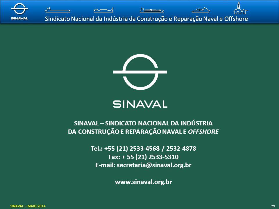 Sindicato Nacional da Indústria da Construção e Reparação Naval e Offshore SINAVAL – SINDICATO NACIONAL DA INDÚSTRIA DA CONSTRUÇÃO E REPARAÇÃO NAVAL E