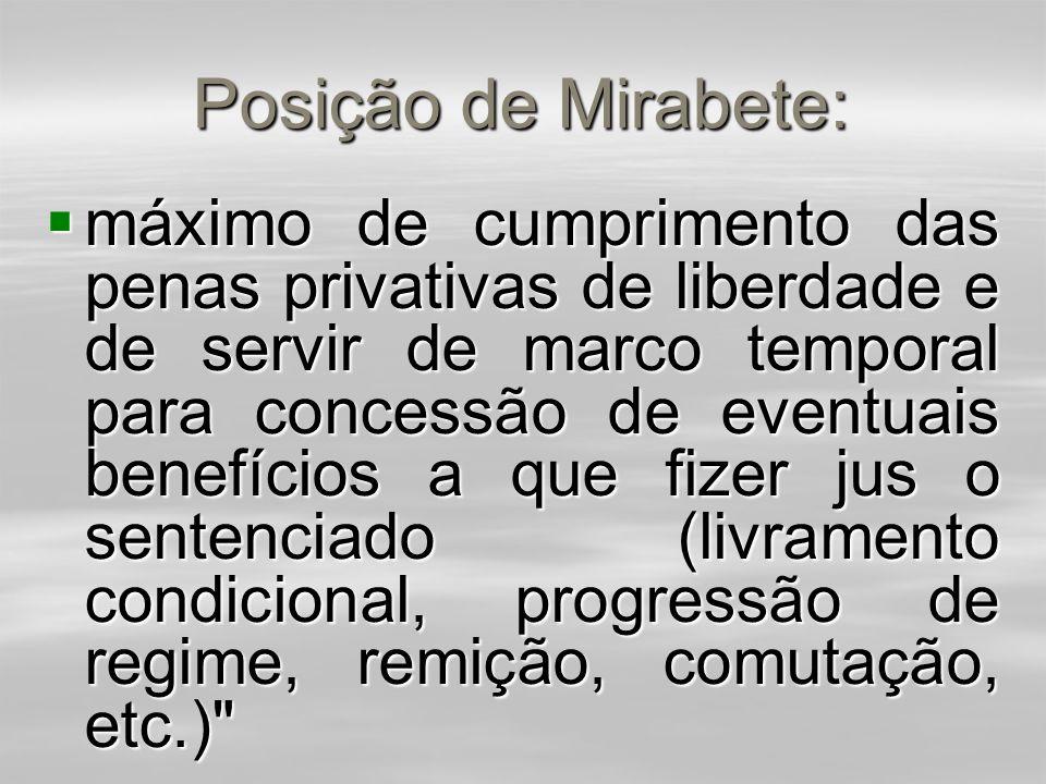Posição de Mirabete:  Tal tese foi contestada por Mirabete (Manual de Direito Penal, 1989, p. 319; e