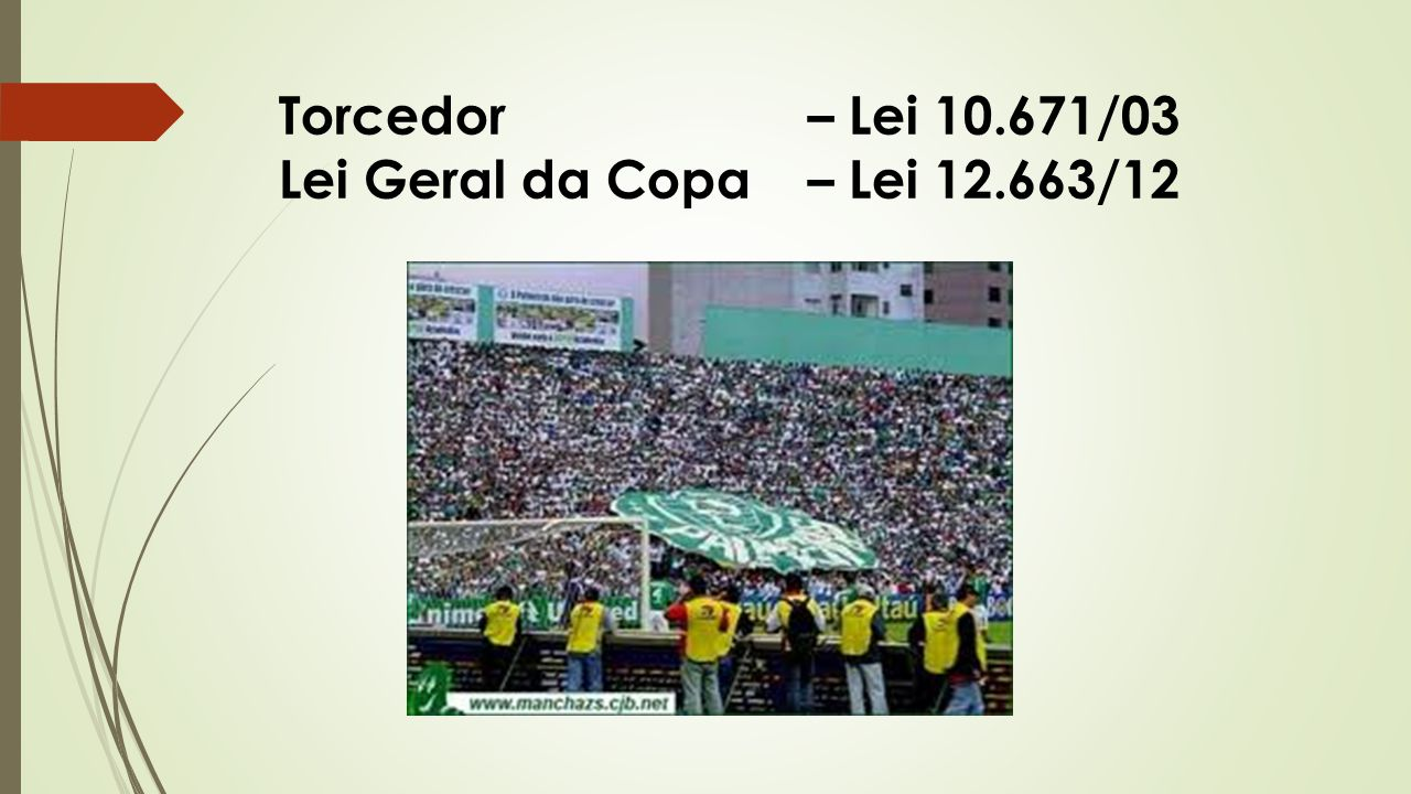 Torcedor – Lei 10.671/03 Lei Geral da Copa – Lei 12.663/12
