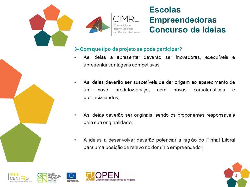 5 Escolas Empreendedoras Concurso de Ideias 4- Prémios.