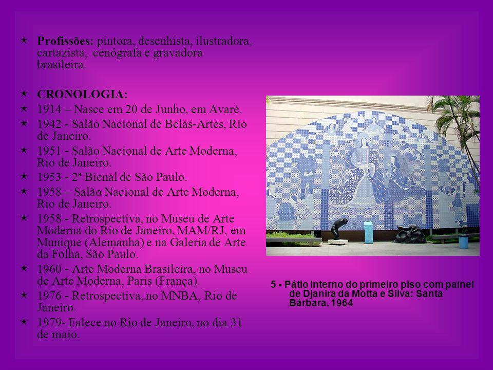  Profissões: pintora, desenhista, ilustradora, cartazista, cenógrafa e gravadora brasileira.
