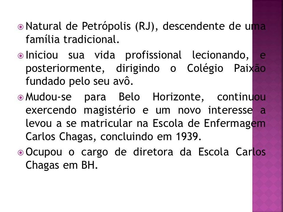  Natural de Petrópolis (RJ), descendente de uma família tradicional.  Iniciou sua vida profissional lecionando, e posteriormente, dirigindo o Colégi