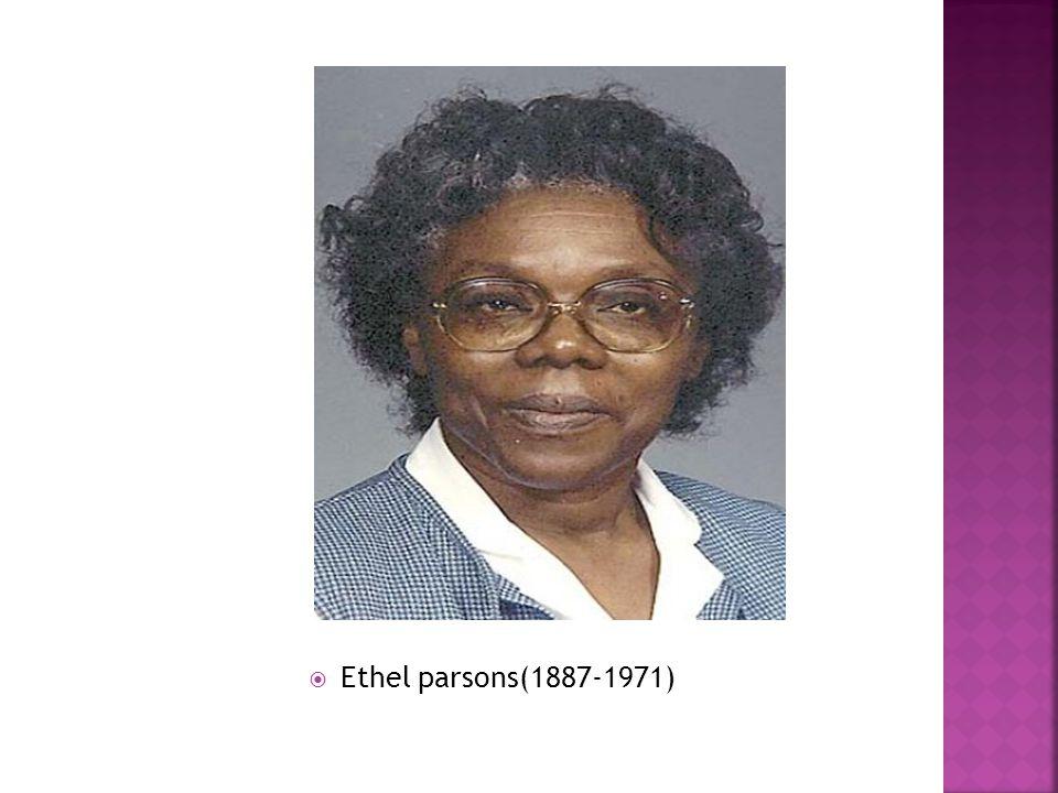  Ethel parsons(1887-1971)