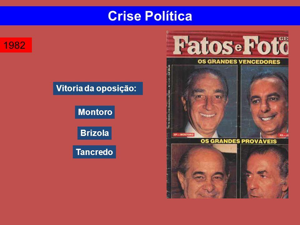 Vitoria da oposição: 1982 Crise Política Montoro Brizola Tancredo