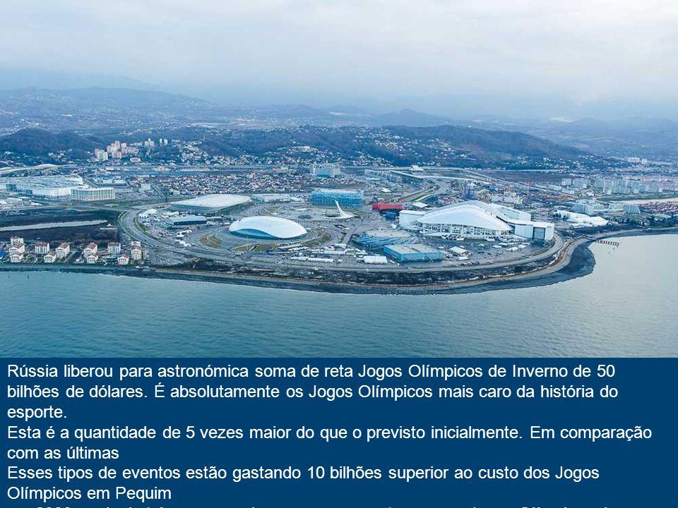 Na estância russa cidade de Sochi, na costa do mar Negro está chegando ao fim da construção dos esportes enormes complexos. Esta cidade, até recenteme