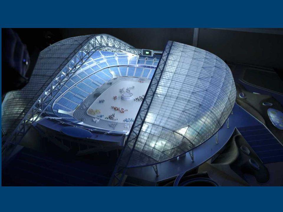 Estádio Olímpico de Fiszt, Sochi 2014 O nome vem de uma das mais famosas montanhas do Cáucaso na Rússia Fiszt. Aqui terá lugar a abertura e a cerimôni