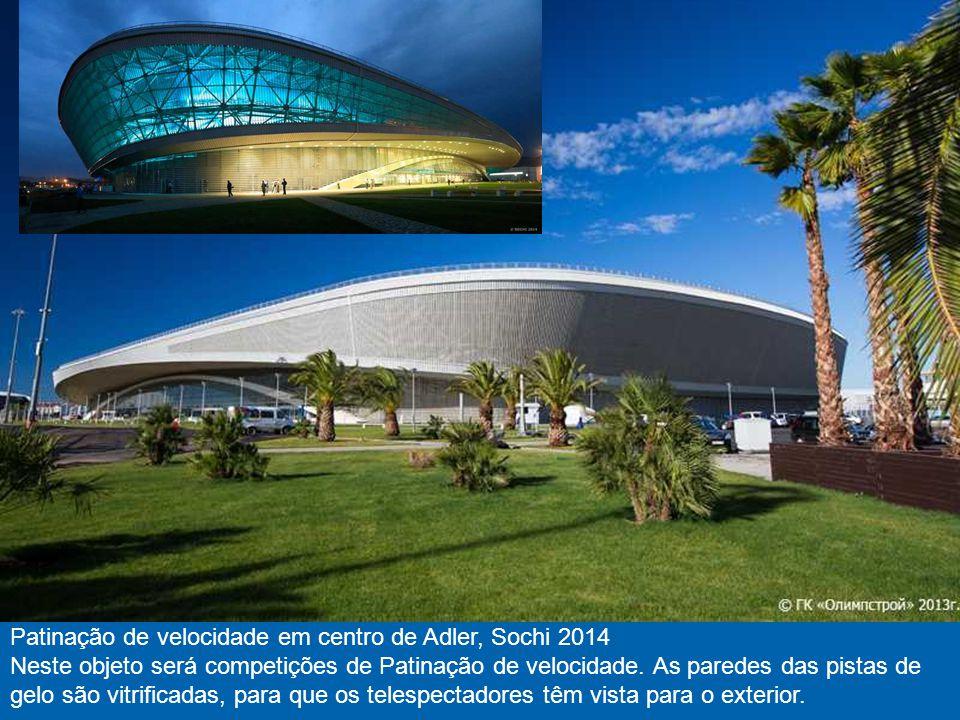 Palácio de gelo de pequeno/Galeria Arena, Sochi 2014 Galeria em Russo significa o disco no hóquei.