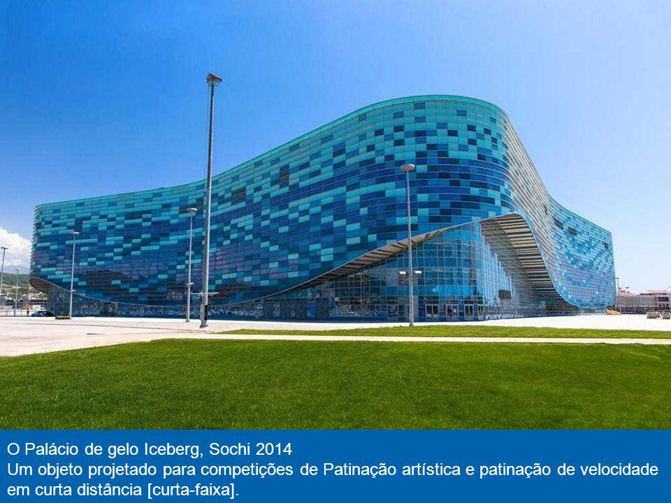 Patinação de velocidade em centro de Adler, Sochi 2014 Neste objeto será competições de Patinação de velocidade. As paredes das pistas de gelo são vit