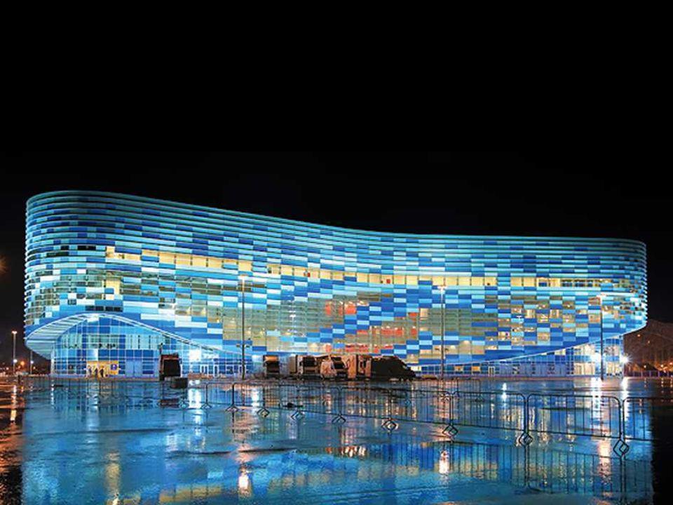 O Palácio de gelo Iceberg, Sochi 2014 Um objeto projetado para competições de Patinação artística e patinação de velocidade em curta distância [curta-faixa].