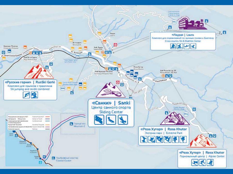 Krasnaya Polyana, maior resort de esqui da Rússia, apelidado de a Suíça russo .