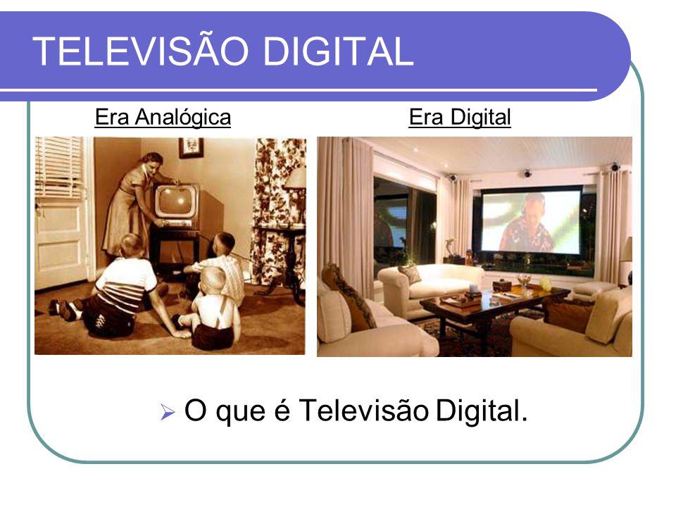 TELEVISÃO DIGITAL  O que é Televisão Digital. Era AnalógicaEra Digital
