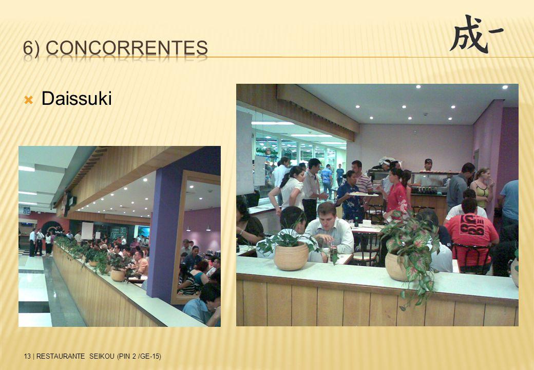  Daissuki 13 | RESTAURANTE SEIKOU (PIN 2 /GE-15)