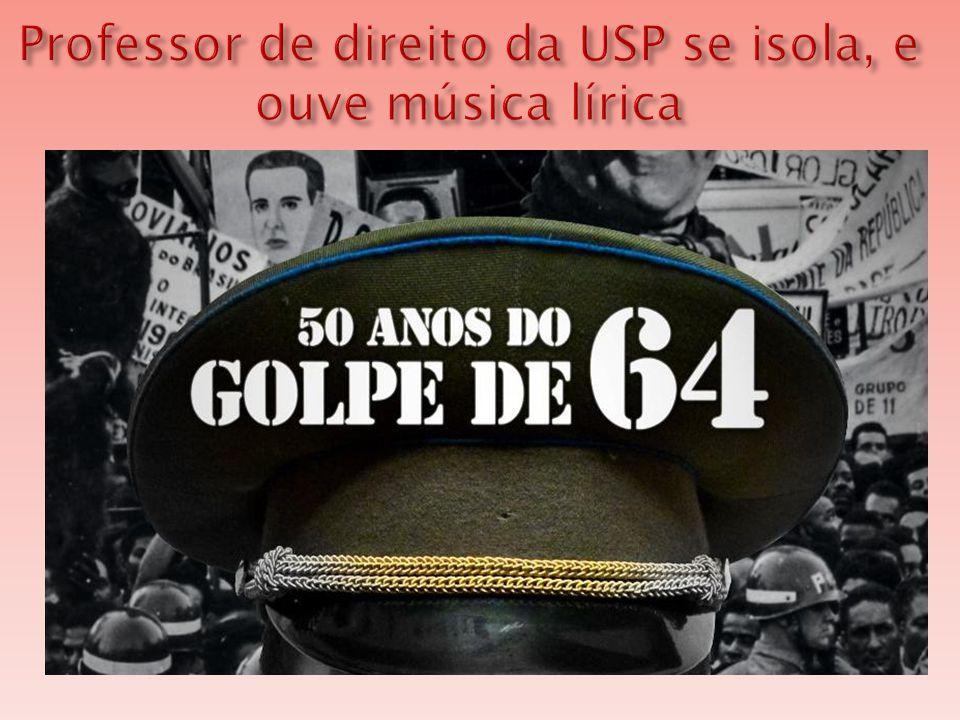  Autor da controversa aula apologética à Revolução de 1964 , o professor de direito da USP Eduardo Gualazzi tem um único desejo dedicar-se à música erudita e ao canto lírico .