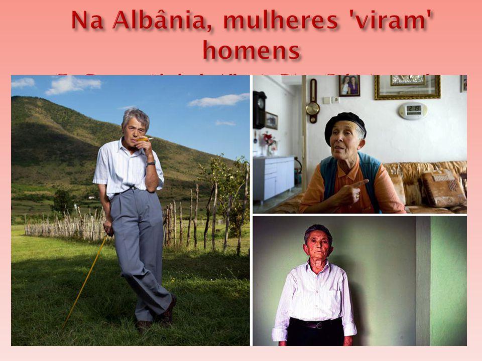  Em Durrës, cidade da Albânia, Diana Rakipi, usa calça jeans, tênis e camisa social masculinos, Diana e Lali são um(a) só.