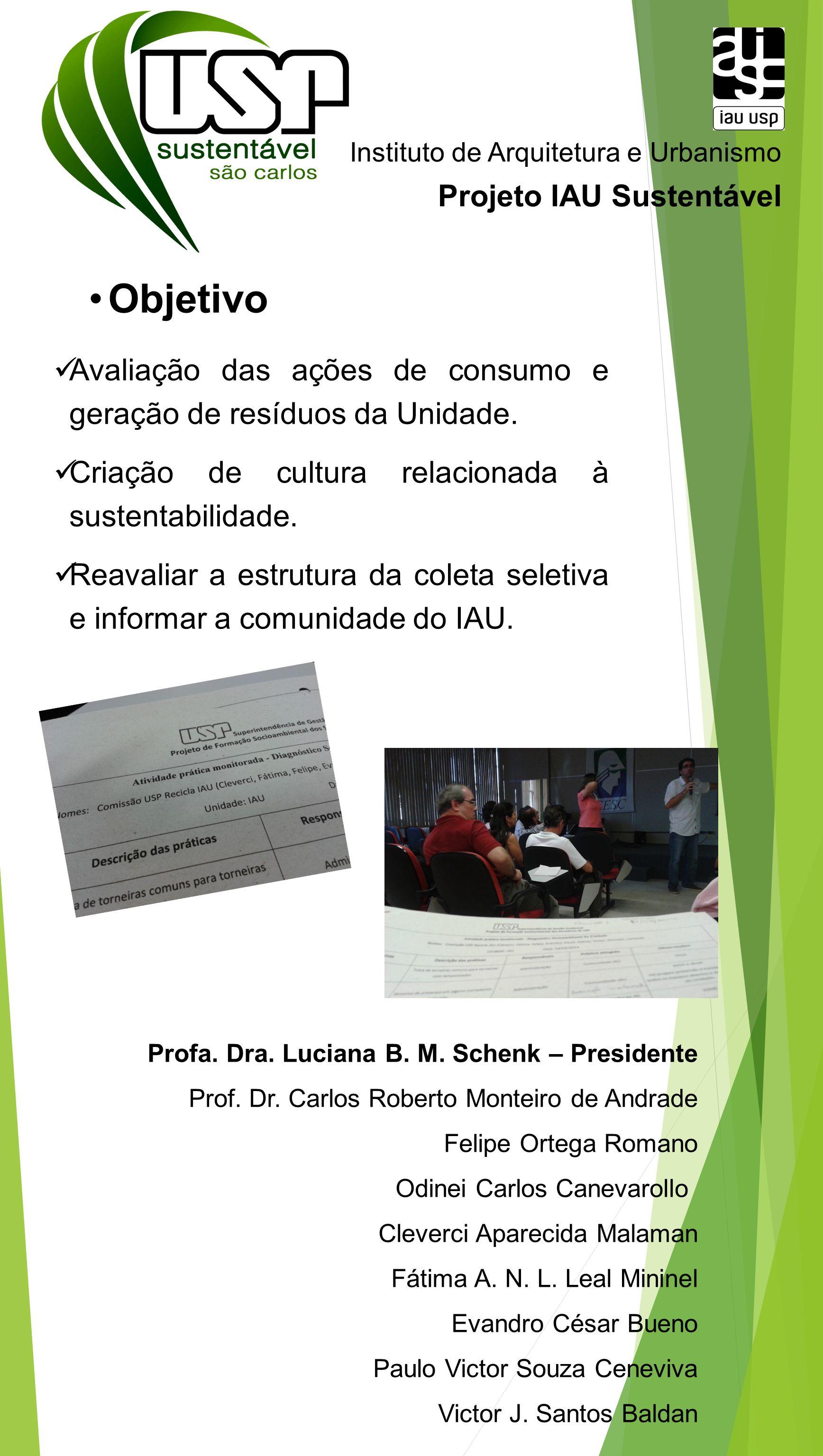 Instituto de Arquitetura e Urbanismo Profa. Dra. Luciana B. M. Schenk – Presidente Prof. Dr. Carlos Roberto Monteiro de Andrade Felipe Ortega Romano O
