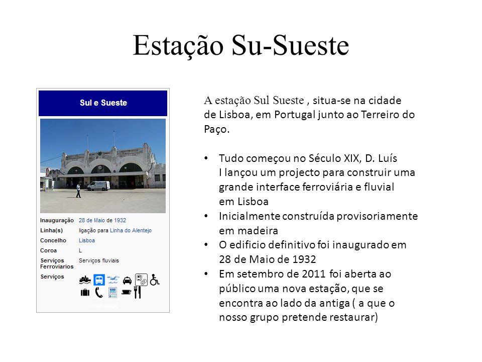 Estação Su-Sueste A estação Sul Sueste, situa-se na cidade de Lisboa, em Portugal junto ao Terreiro do Paço.