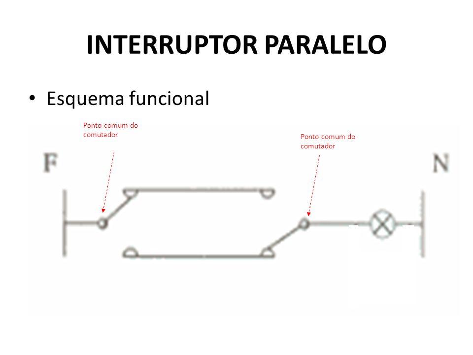 INTERRUPTOR PARALELO Esquema funcional Ponto comum do comutador
