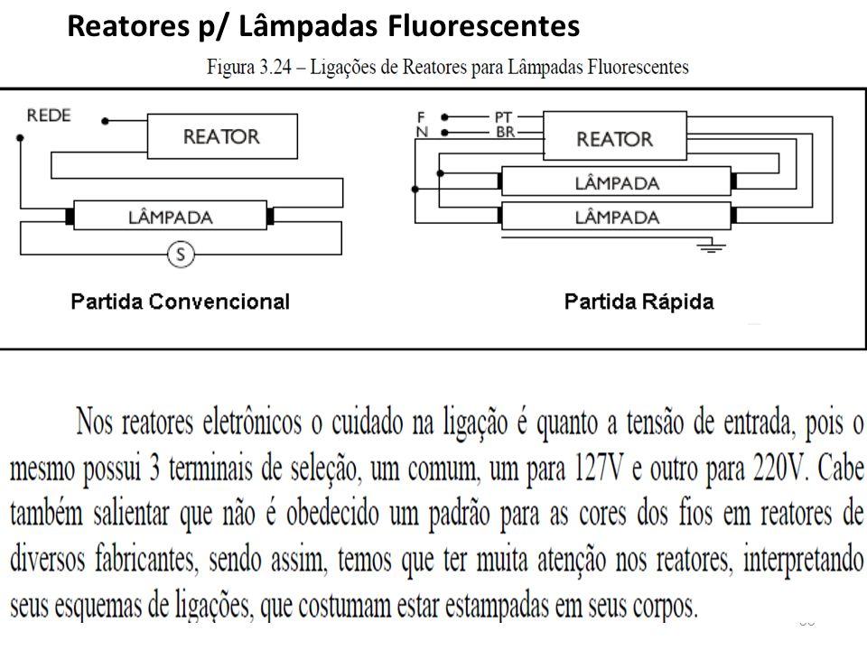 33 Reatores p/ Lâmpadas Fluorescentes