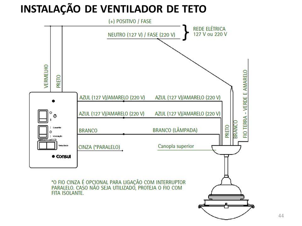 44 INSTALAÇÃO DE VENTILADOR DE TETO