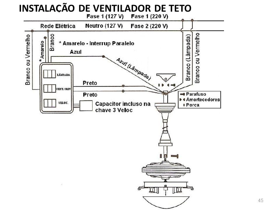 45 INSTALAÇÃO DE VENTILADOR DE TETO