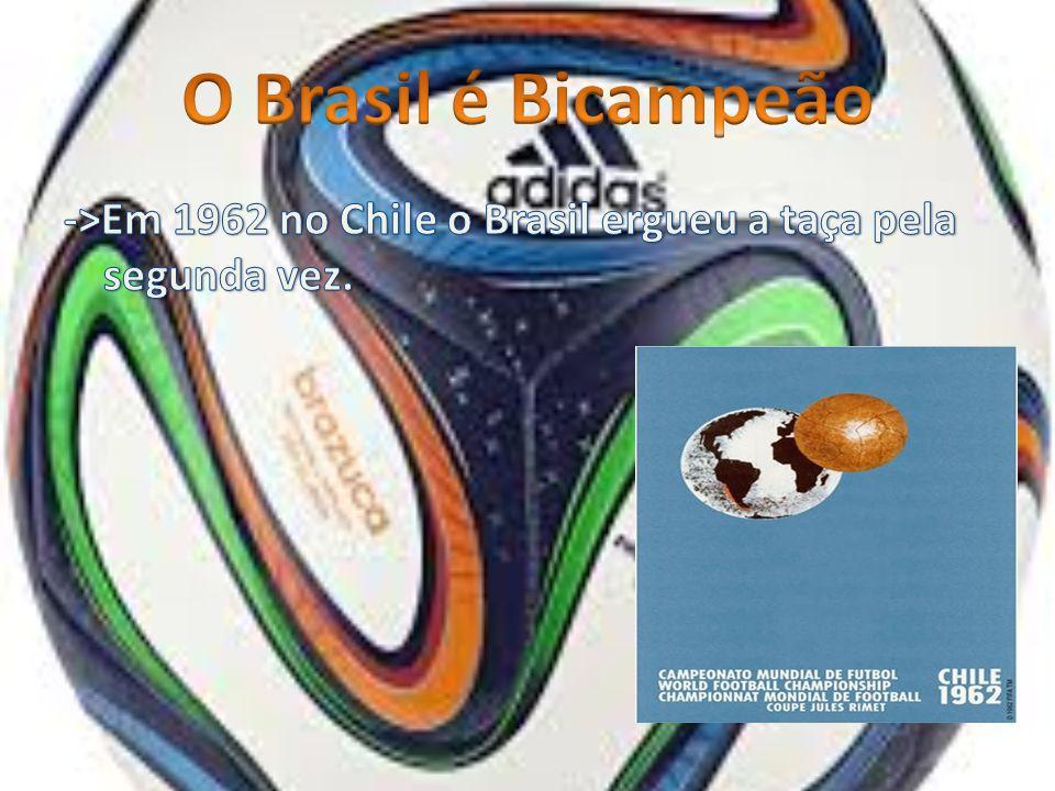 O Brasil é Tricampeão ->Em 1970 o Brasil venceu da Itália por 4 a 1. ->Esta Copa foi no México.