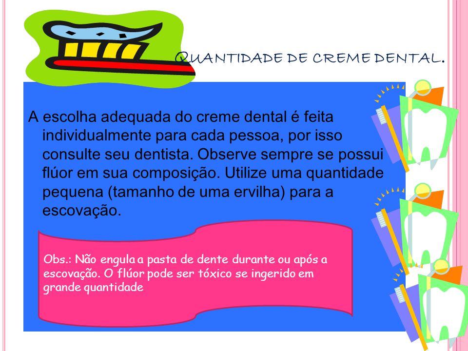Q UANDO É A HORA DE TROCAR A ESCOVA .Troque sua escova aproximadamente a cada 3 meses.