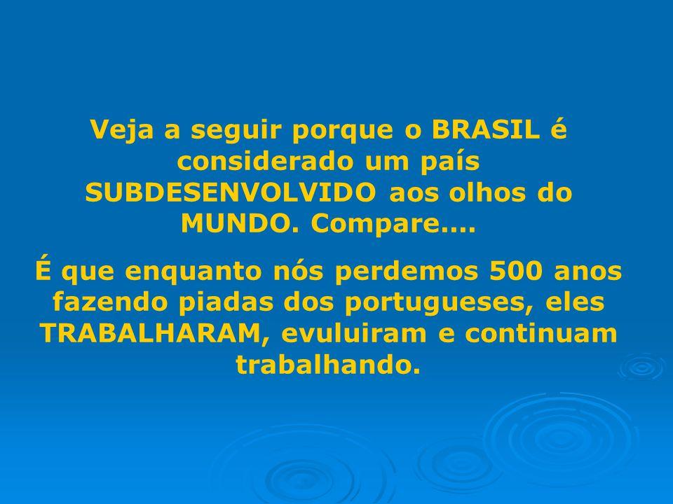 Veja a seguir porque o BRASIL é considerado um país SUBDESENVOLVIDO aos olhos do MUNDO.