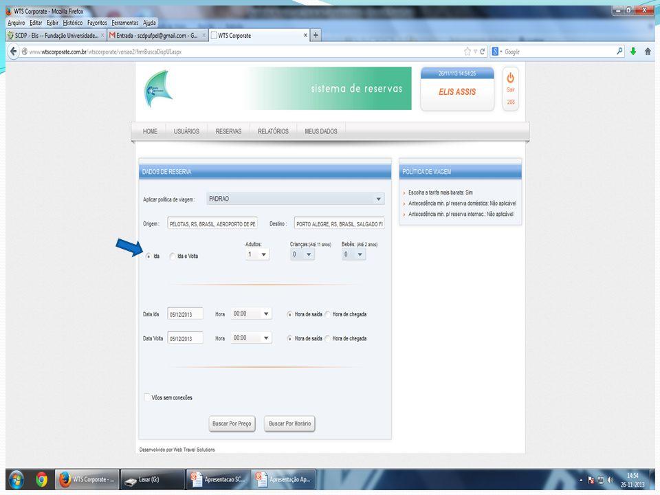 Para visualizar o bilhete emitido clicar em reservas – consulta -lista de emissões – corrigir data - status todas ; Clicar no número da coluna LocWTS do passageiro e no link com envelope escrito e-mail .