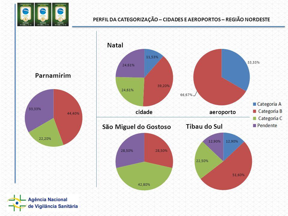 PERFIL DA CATEGORIZAÇÃO – CIDADES E AEROPORTOS – REGIÃO NORDESTE cidadeaeroporto
