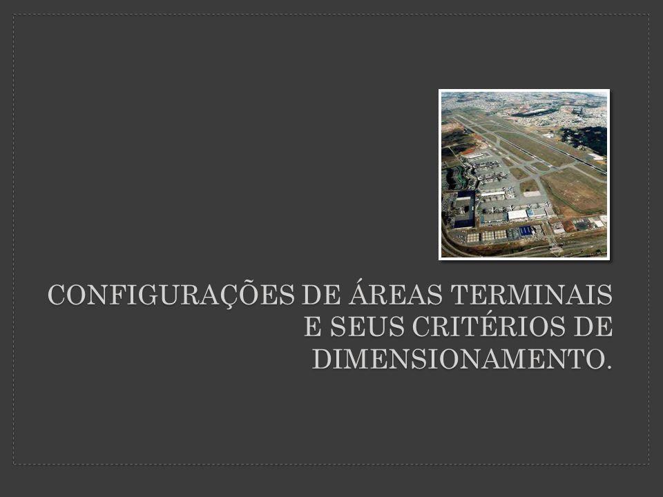 CONFIGURAÇÕES DE ÁREAS TERMINAIS E SEUS CRITÉRIOS DE DIMENSIONAMENTO.