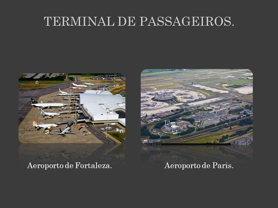 TERMINAL DE PASSAGEIROS. Aeroporto de Fortaleza. Aeroporto de Paris.