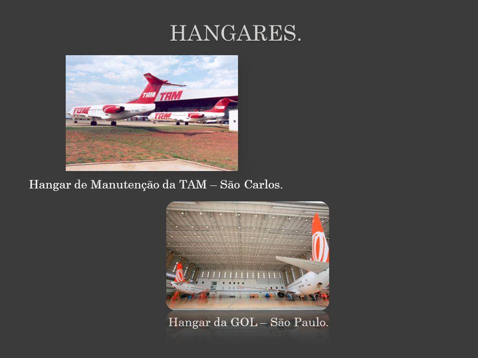 HANGARES. Hangar de Manutenção da TAM – São Carlos. Hangar da GOL – São Paulo.