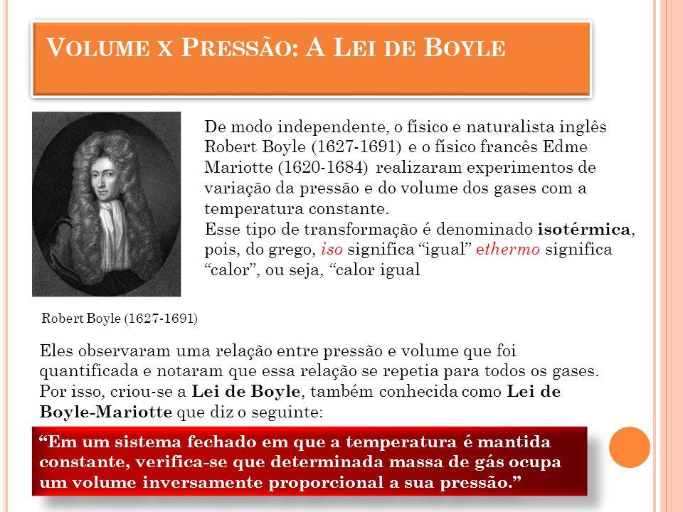 Paul Emile Clapeyron A Lei Geral dos Gases é válida para um gás, cuja massa é constante.