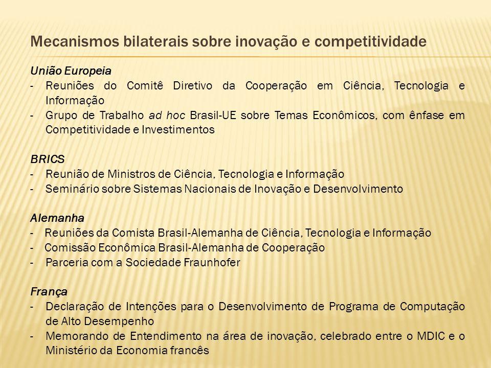 Mecanismos bilaterais sobre inovação e competitividade União Europeia -Reuniões do Comitê Diretivo da Cooperação em Ciência, Tecnologia e Informação -