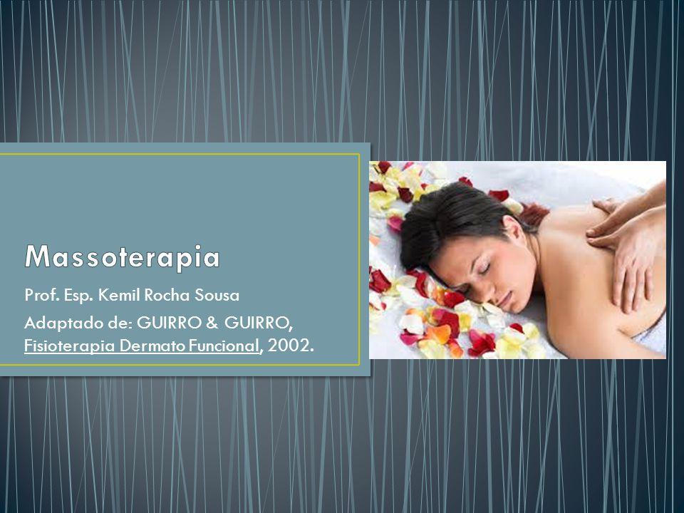 Prof. Esp. Kemil Rocha Sousa Adaptado de: GUIRRO & GUIRRO, Fisioterapia Dermato Funcional, 2002.