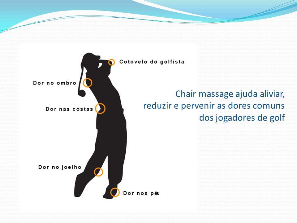 Chair massage ajuda aliviar, reduzir e pervenir as dores comuns dos jogadores de golf s