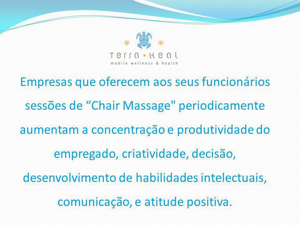 """Empresas que oferecem aos seus funcionários sessões de """"Chair Massage"""