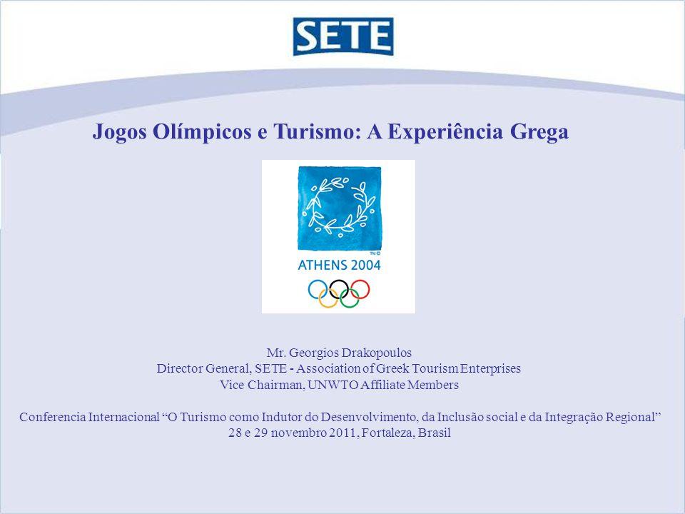 Sediando os Jogos Olímpicos – Questões relacionadas à comunicação Interesse da Mídia Capacidade Prontidão Segurança Preços de hotéis Sobrecarga de destinos Nova política de turismo O turismo na Grécia hoje Recomendações Conteúdo